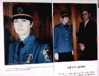 Photo of Fran Howard, the first female Alaska State Trooper, in the Alaska State Troopers Museum, Anchorage, Alaska
