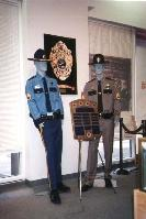 Uniform display in the Alaska State Troopers Museum, Anchorage, Alaska