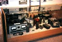 Communications equipment display in the Alaska State Troopers Museum, Anchorage, Alaska