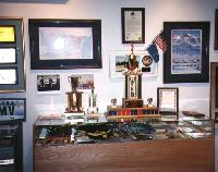 'Mounties' display in the Alaska State Troopers Museum, Anchorage, Alaska