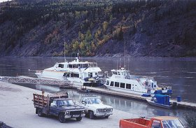 The dock at Dawson City where the Yukon Queen II and the River Hawk collided