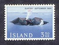 The volcanic island of Surtsey in September 1964