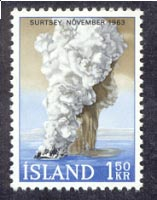 The birth of the volcanic island of Surtsey in November 1963