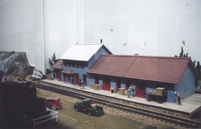 A photo of the WP&YR display at the Yukon Transportation Museum in Whitehorse, Yukon Territory