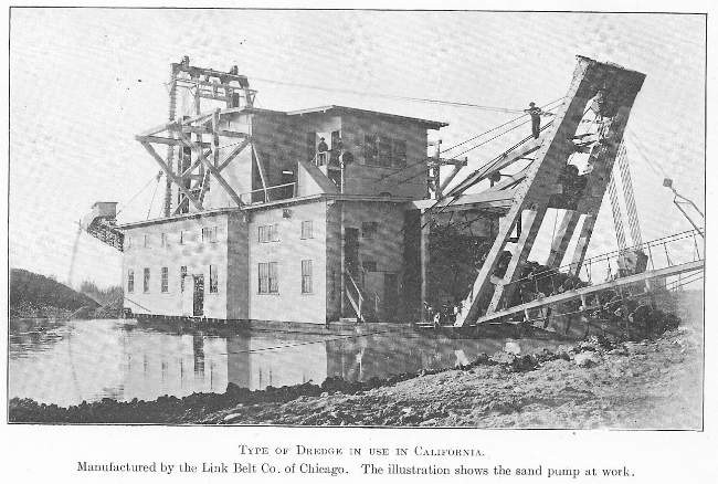 Type of Dredge in Use in California, 1908 - Link Belt Co.