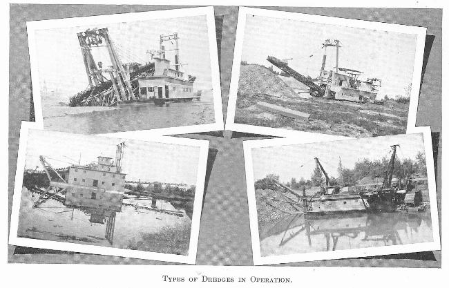 Types of Dredge in Operation, 1908