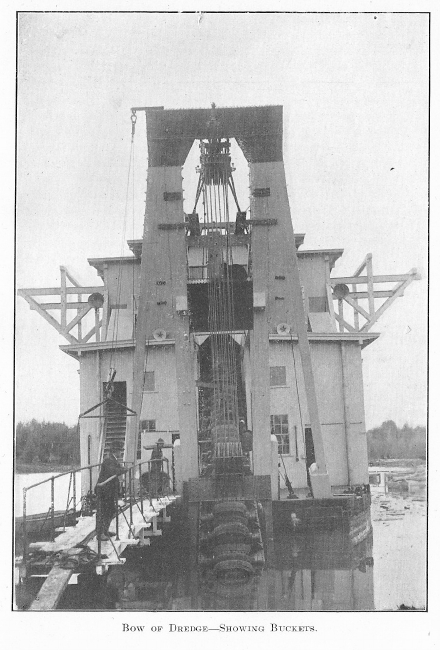Bow of Dredge, Showing Buckets