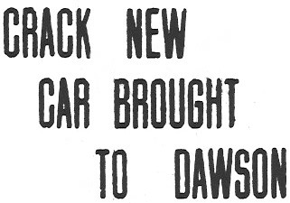 'Dawson Daily News' newspaper - Dawson City, Yukon Territory, 1915