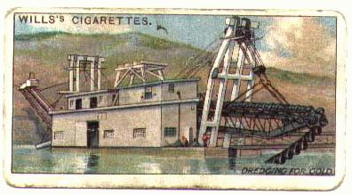 A historic gold dredge