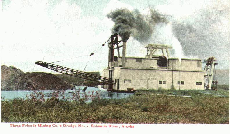 Three Friends Mining Company's Gold Dredge No. 1, Nome, Alaska