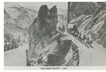 Fraser Canyon - The Great Bluff, 1860s