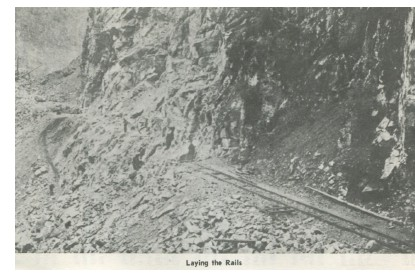 Fraser Canyon - Laying the rails, 1880s