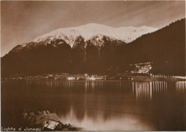 Postcards by the R. J. Calvert Company - NPC-1257: Lights of Juneau