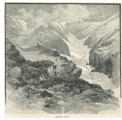 Perrier Pass (now Cholkoot Pass), Alaska, 1883