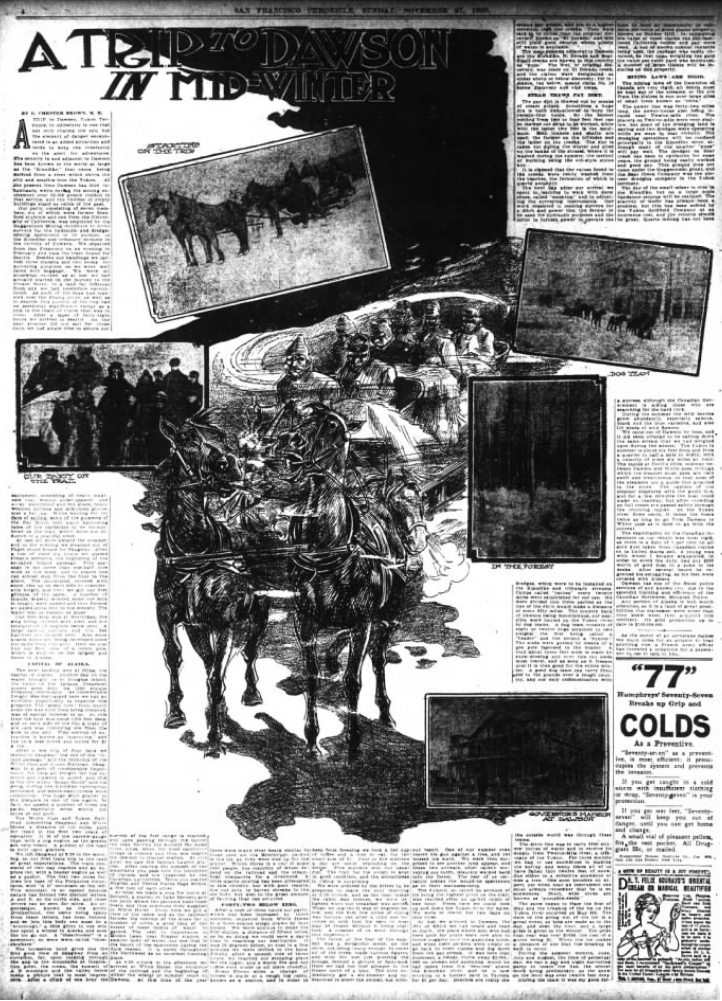 A Trip To Dawson Mid-Winter: San Francisco Chronicle Sunday Magazine - November 27, 1910