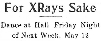 For XRays Sake - Dance at Hall Friday Night