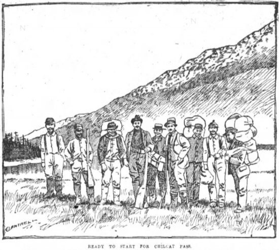 Ready to start for Chilkat Pass, 1894