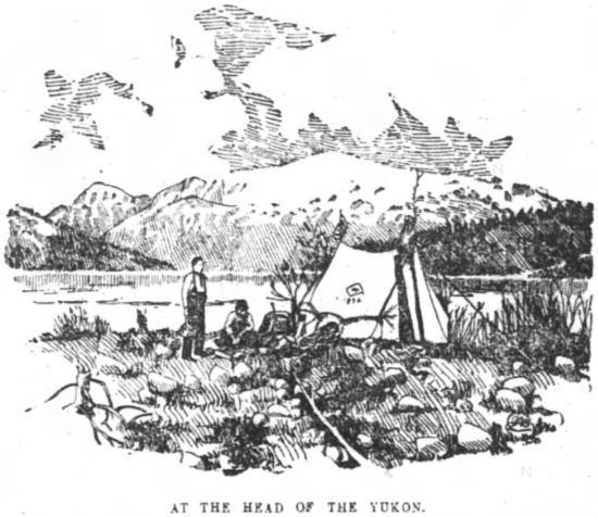 Camp at the head of the Yukon, 1894