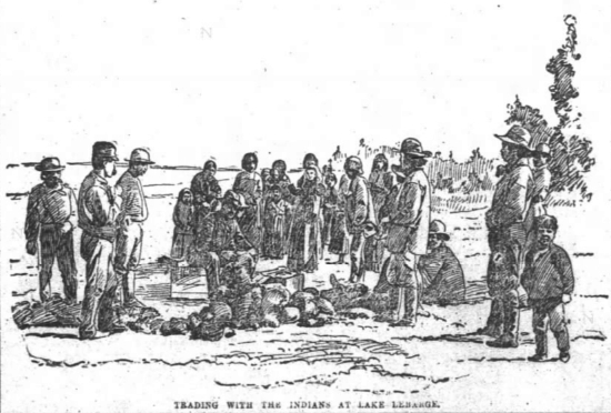 Trading with the Indians at Lake Laberge, 1894