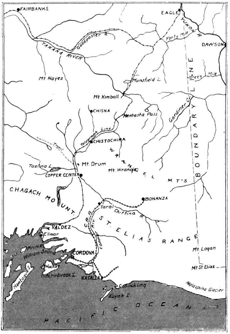 Early map of eastern-central Alaska
