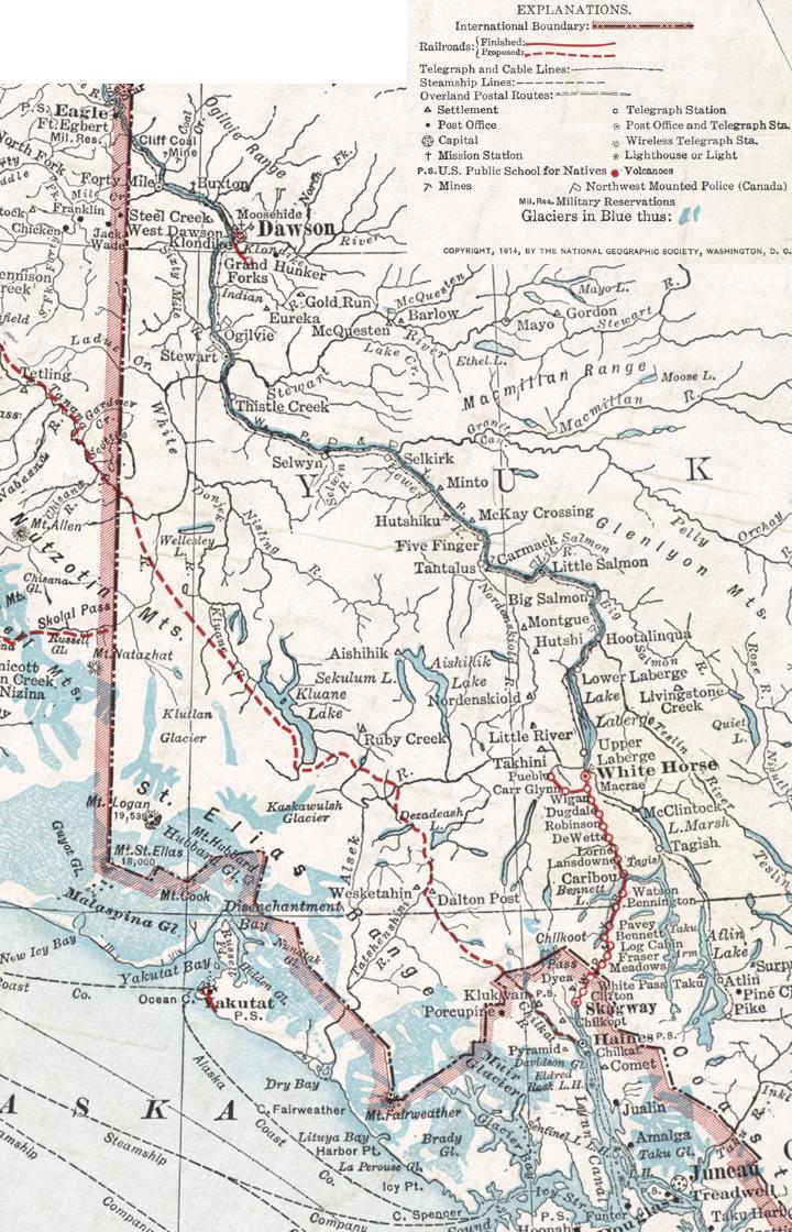 Map Of Juneau Eagle Alaska 1914