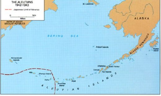 The Aleutians 1942-1943 (map)