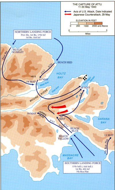 The Capture of Attu - 11-30 May 1943 (map)