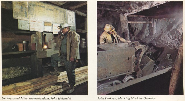 United Keno Hill Mines, 1979 - Underground Mine Superintendent John Holzapfel; and John Derksen, Mucking Machine Operator