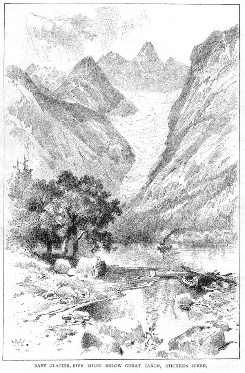 Baby Glacier, Five Miles Below Great Canyon, Stickeen River - 1879