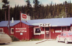 Morley River Lodge, Alaska Highway, 1970s