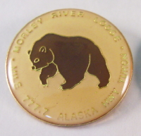 Pin from the Morley River Lodge, Alaska Highway