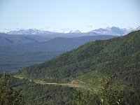 The view north from Steamboat Summit, Alaska Highway