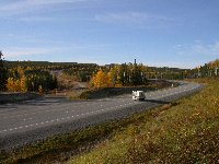 Alaska Highway south of the Sikanni Chief River in October 2002