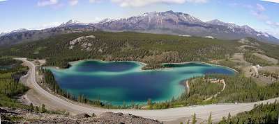 Emerald Lake, Yukon - panorama