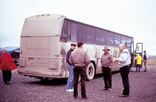 Motorcoach on the Dalton Highway - by Ed Bovy