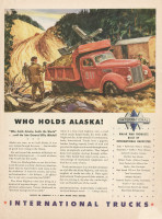 Alaska HIghway International Trucks ad, 1943