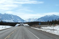 Kluane Range as seen from a rest area at Km 1566 of the Alaska Highway