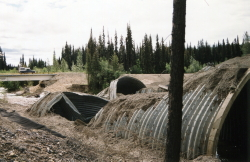 Collapsed culvert at Iron Creek on the Alaska Highway, 2001