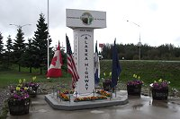 The End of the Alaska Highway monument