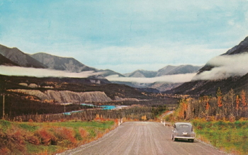 Alaska Highway postcard - Trout River