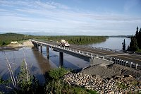 The new Tanana River Bridge at Mile 1303 of the Alaska Highway