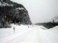 Winter driving on the Alaska Highway