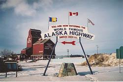 The Start of the Alaska Highway area at NAR Park in Dawson Creek, British Columbia
