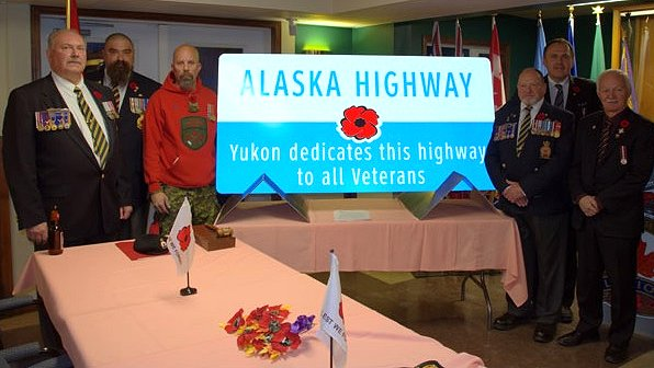 Yukon portion of the Alaska Highway dedicated to all War Veterans