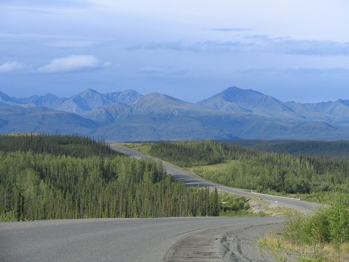 The Alaska Highway at Christmas Creek, Yukon
