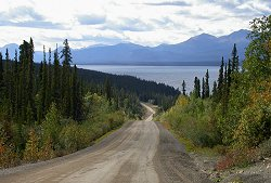 A view along the Atlin Road in northern British Columbia