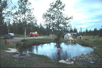 Photo of the Warm Springs at Atlin, British Columbia