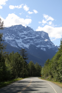 A view along Highway 20 in the Bella Coola valley