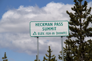 The top of The Hill - Heckman Pass Summit