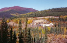 Placer gold mine in the Yukon
